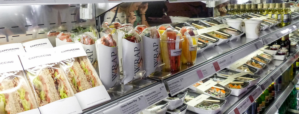Product Packaging in a supermarket