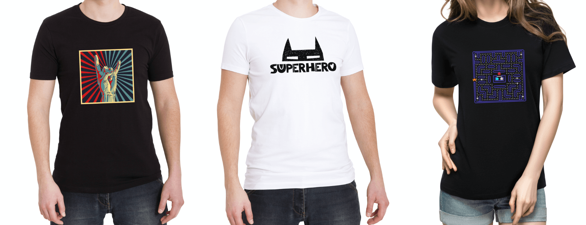 T-shirt design with popular culture references