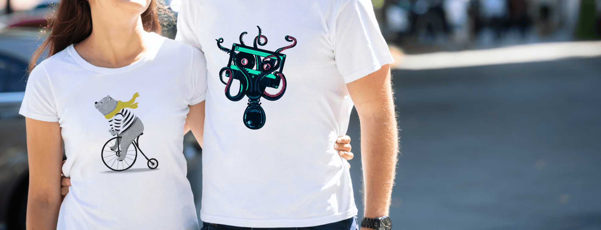 T-shirts design ideas with fun illustrations for women and men